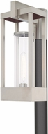 Livex 20996-91 Delancey Modern Brushed Nickel Outdoor Post Lamp