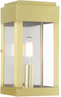 Livex 21231-12 York Satin Brass Outdoor 9  Wall Lighting Sconce