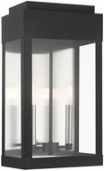 Livex 21238-04 York Black Outdoor 19  Wall Light Sconce