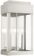 Livex 21238-91 York Brushed Nickel Outdoor 19  Wall Sconce