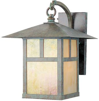 Livex 2133-16 Montclair Mission Craftsman Verde Patina Wall Lamp