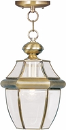 Livex 2152-01 Monterey Antique Brass Hanging Pendant Lighting