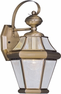 Livex 2161-01 Georgetown Antique Brass Wall Mounted Lamp