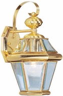 Livex 2161-02 Georgetown Polished Brass Wall Light Sconce