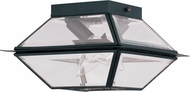 Livex 2184-04 Westover Black Exterior Flush Lighting