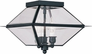 Livex 2185-04 Westover Black Outdoor Flush Ceiling Light Fixture
