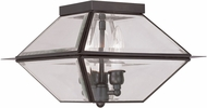 Livex 2185-07 Westover Bronze Exterior Flush Mount Ceiling Light Fixture