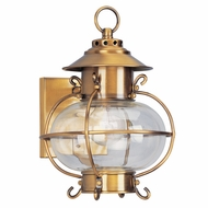 Livex 2221-22 Harbor Nautical Flemish Brass Exterior Lighting Wall Sconce