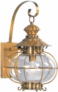 Livex 2222-22 Harbor Nautical Flemish Brass Exterior Wall Sconce Lighting