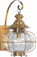 Livex 2223-22 Harbor Nautical Flemish Brass Exterior Wall Light Sconce