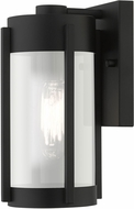 Livex 22380-04 Sheridan Modern Black with Brushed Nickel Candles Outdoor Wall Lighting Sconce