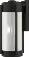 Livex 22383-04 Sheridan Modern Black with Brushed Nickel Candles Outdoor Wall Lighting Fixture
