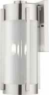 Livex 22383-91 Sheridan Contemporary Brushed Nickel Exterior Wall Light Sconce