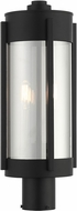 Livex 22386-04 Sheridan Contemporary Black with Brushed Nickel Candles Outdoor Lamp Post Light