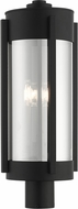 Livex 22387-04 Sheridan Modern Black with Brushed Nickel Candles Outdoor Lighting Post Light