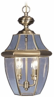 Livex 2255-01 Monterey Antique Brass Hanging Pendant Lighting