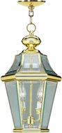 Livex 2265-02 Georgetown Polished Brass Ceiling Light Pendant