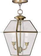 Livex 2285-01 Westover Antique Brass Drop Lighting Fixture