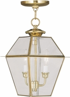 Livex 2285-02 Westover Polished Brass Pendant Lighting