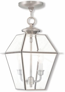 Livex 2285-91 Westover Brushed Nickel Pendant Lamp
