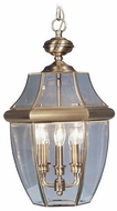 Livex 2355-01 Monterey Antique Brass Hanging Lamp