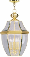 Livex 2357-02 Monterey Polished Brass Hanging Pendant Light