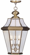 Livex 2365-01 Georgetown Antique Brass Drop Ceiling Lighting