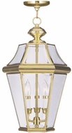 Livex 2365-02 Georgetown Polished Brass Ceiling Light Pendant
