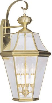 Livex 2366-02 Georgetown Polished Brass Wall Sconce Lighting