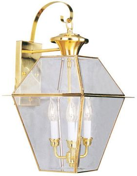 Livex 2381-02 Westover Polished Brass Wall Sconce Lighting