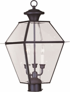 Livex 2384-07 Westover Bronze Exterior Post Light Fixture