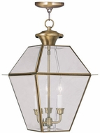 Livex 2385-01 Westover Antique Brass Drop Lighting Fixture