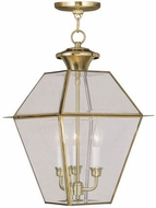 Livex 2385-02 Westover Polished Brass Pendant Lighting
