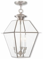 Livex 2385-91 Westover Brushed Nickel Lighting Pendant