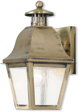 Livex 2550-01 Amwell Traditional Antique Brass Wall Lighting Fixture