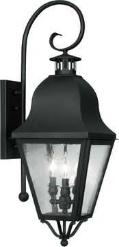 Livex 2555-04 Amwell Traditional Black Light Sconce