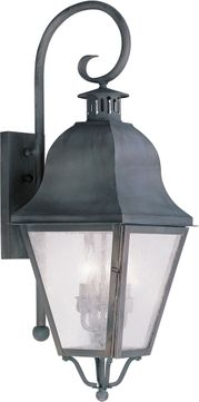 Livex 2555-61 Amwell Traditional Charcoal Lamp Sconce