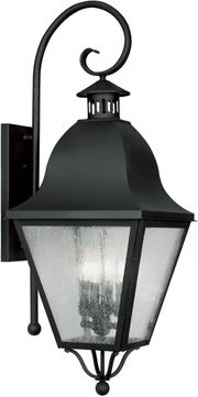 Livex 2558-04 Amwell Traditional Black Wall Sconce Lighting