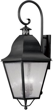 Livex 2559-04 Amwell Traditional Black Wall Lighting Sconce