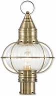 Livex 27005-01 Newburyport Nautical Antique Brass Outdoor Lamp Post Light