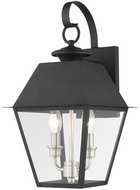 Livex 27215-04 Mansfield Black Exterior 17  Wall Sconce