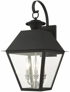 Livex 27218-04 Mansfield Black Outdoor 22  Wall Lamp