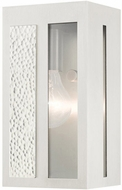 Livex 27411-91 Lafayette Contemporary Brushed Nickel Outdoor 9 Lighting Sconce