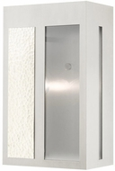 Livex 27413-91 Lafayette Modern Brushed Nickel Outdoor 14 Wall Sconce Lighting