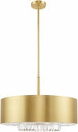 Livex 40020-12 Madison Satin Brass Drum Pendant Lamp