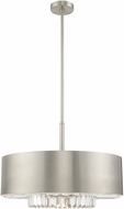 Livex 40020-91 Madison Brushed Nickel Drum Hanging Lamp