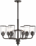 Livex 40026-07 Lawrenceville Modern Bronze Chandelier Light