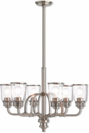 Livex 40026-91 Lawrenceville Contemporary Brushed Nickel Ceiling Chandelier