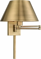 Livex 40030-01 Antique Brass Wall Swing Arm Lamp