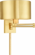 Livex 40034-12 Satin Brass Wall Swing Arm Lamp